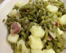 Green Beans Potatoes and Ham