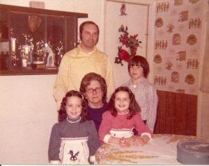 Dad, Grandma S., sister, brother and myself